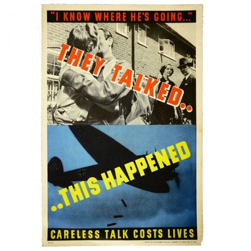 Careless Talk Costs Lives Original WW2 Poster