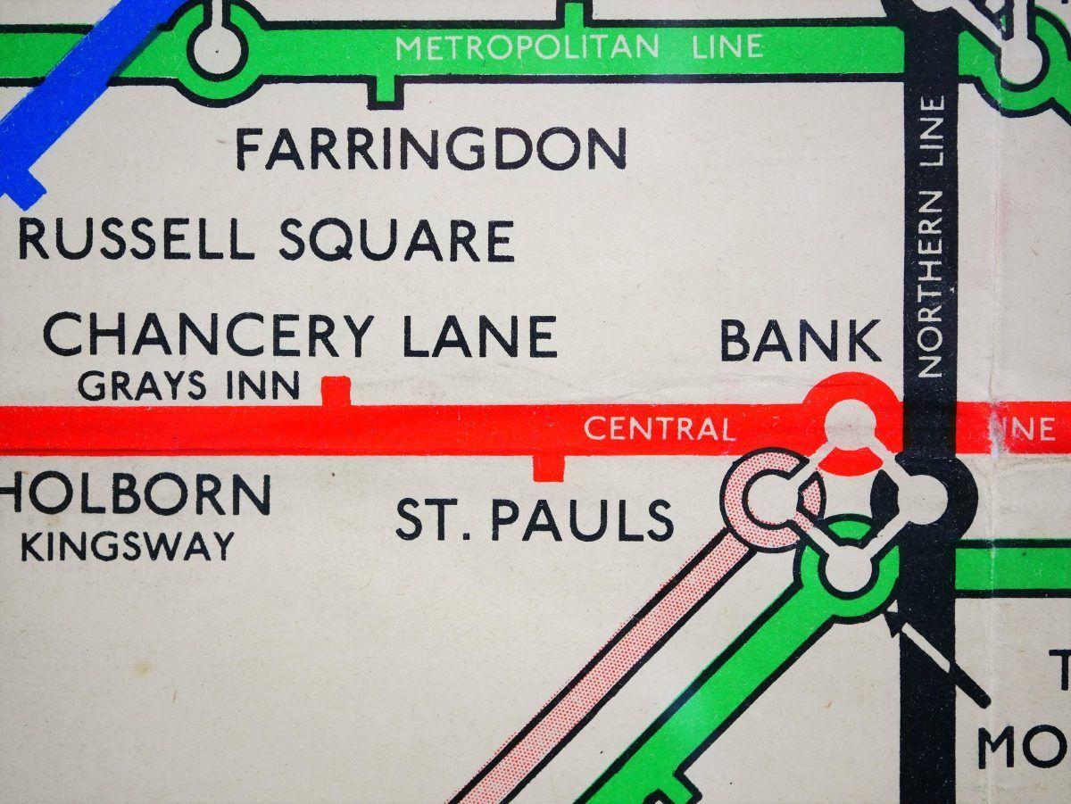 London Subway Map Russell Station.1948 H C Beck Original Vintage London Tube Map Sold Transport