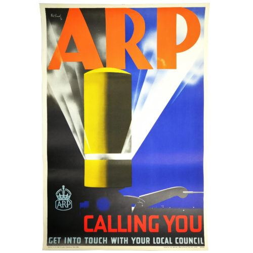 ARP WW2 Poster by Pat Keely