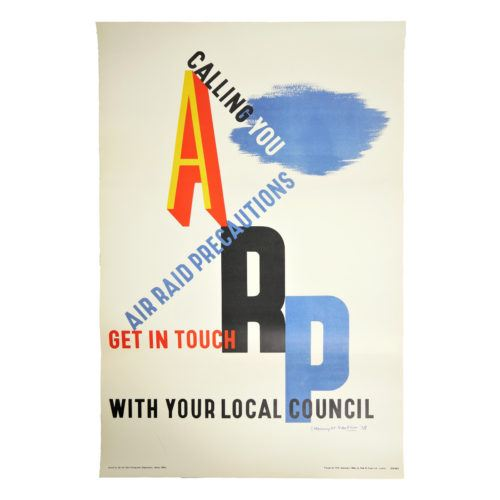 ARP WW2 Poster by E. McKnight Kauffer