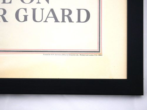 Be On Your Guard Poster