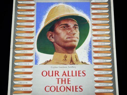 Ceylon Garrison Artillery WW2 Poster