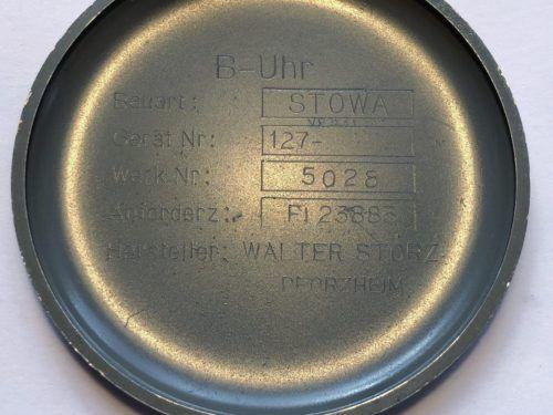 Stowa B-Uhr German Luftwaffe Pilots Watch Caseback