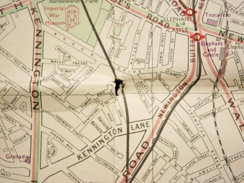 Vintage London Transport Map