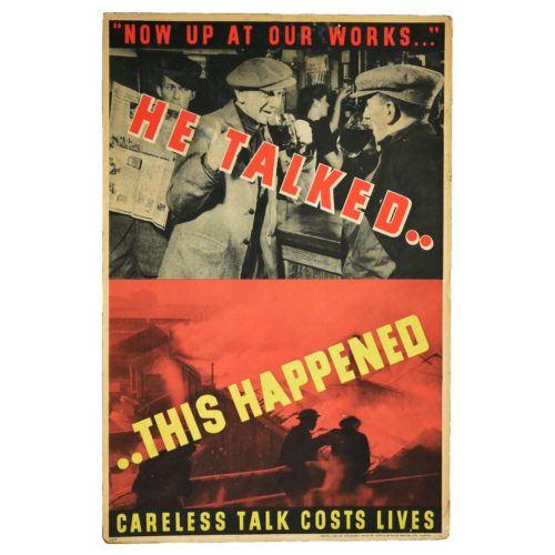 Careless Talk Costs Lives WW2 Poster