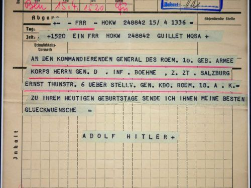 Hitler Telegram