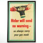 Hitler Will Send No Warning WW2 Poster