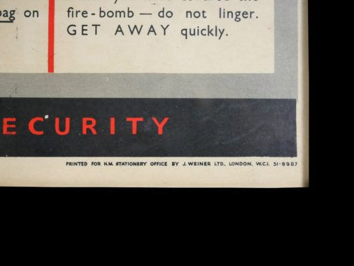 How To Tackle A Fire Bomb WW2 Poster