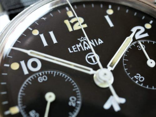 Lemania Chronograph Series 2 Military Watch