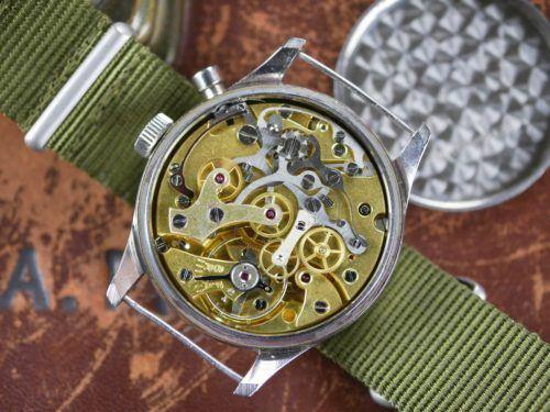Lemania Chronograph Series 1 Military Watch