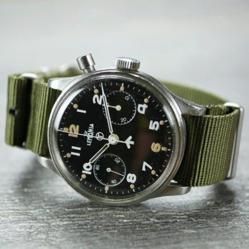 Lemania Chronograph Series 1 Military Watch