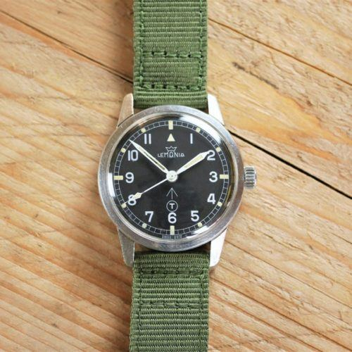 Lemania Dive Supervisor British Royal Navy Military Watch