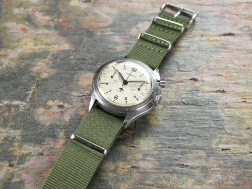 Military Lemania HS9A Chronograph