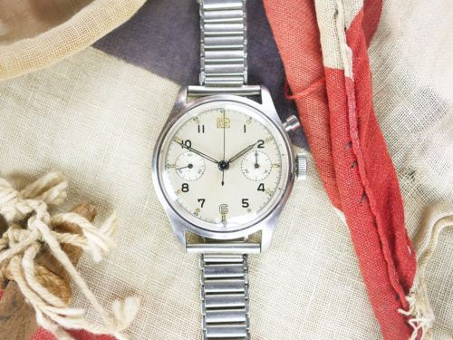 Military Lemania Sterile Dial Series 1 Chronograph