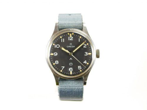 Omega 1953 RAF MOD Thin Arrow Pilots Watch