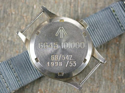 Omega 1953 RAF MOD Thin Arrow Pilots Watch Case Back