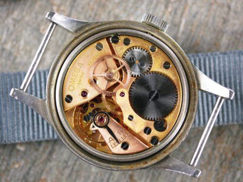 Omega 1953 RAF MOD Thin Arrow Pilots Watch Movement