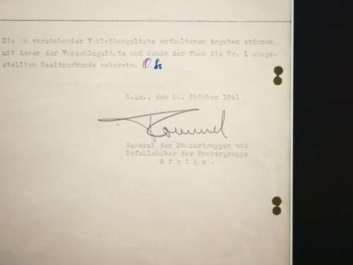 Rommel Document