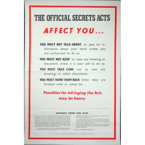The Official Secrets Act Poster