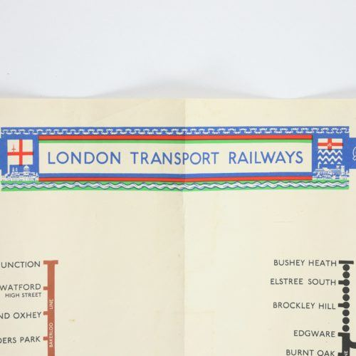 Original Vintage London Tube Map by H C Beck