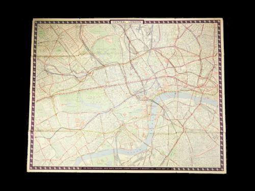 Vintage London Transport Map 1953