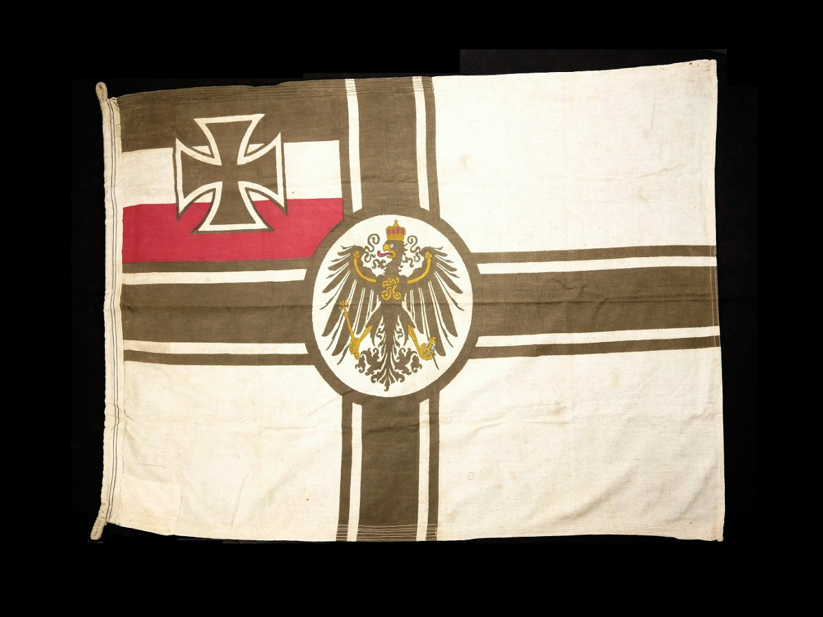 Very Rare WW2 German Kriegsmarine Imperial War Ensign Flag  (Reichskriegsflagge)