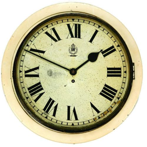 Hospital RAF Smiths White Dial Clock Type II