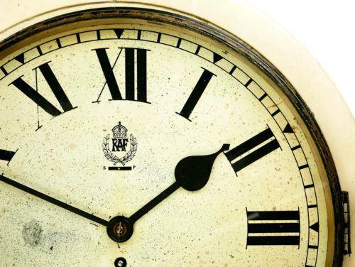 Hospital RAF Smiths White Dial Clock Type II