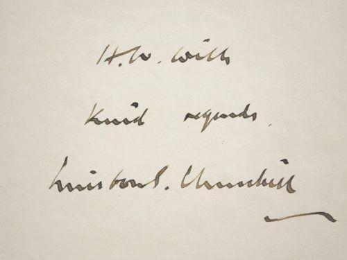 Winston Churchill Autograph