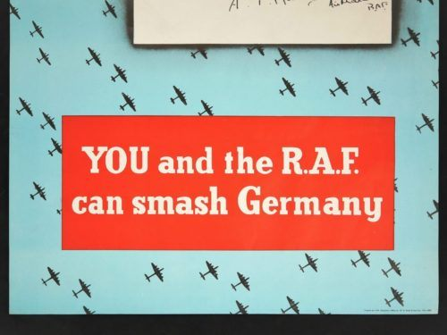 WW2 You and the RAF can Smash Germany Poster